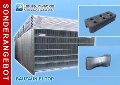Bauzaun EUTOP inkl. Betonstein und Verbinder 36er Set