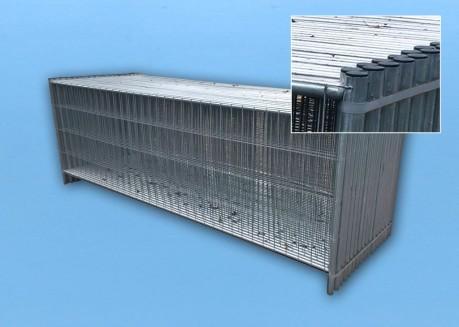 Bauzaun 1,2m hoch - 35er Set inkl. Standfuß, Verbinder