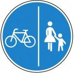 Getrennter Rad- und Gehweg