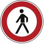 Verkehrszeichen Nr.: 259 Verbot für Fußgänger